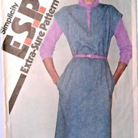 Simplicity Sewing Pattern 9617 Misses Size 10 to 14 Pullover Jumper