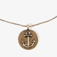Anchor Coin Charm Necklace | FOREVER 21 - 1038011941