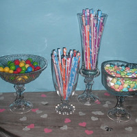 4 repurposed Wedding dessert buffet  or Candy by MamaLisasCottage