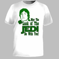 May the luck of the Jedi Be With U Irish Tee T-Shirt