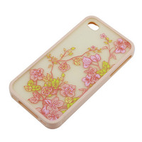 Pink Protective Plastic Bumper Frame + Flower Patterned Cover for iPhone 4G 4S &amp;#36;6.59 - Free Shipping, iPhone Cases &amp; Armbands