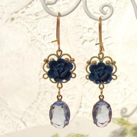 Kiss Me In The Moonlight - Vintage Jewel Crystal Earrings