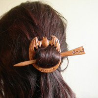 $30.00 antique bat hair pin/shawl pin by theancientmuse on Etsy