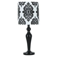 Xhilaration® Lamp with Damask Shade - Black