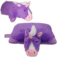 UNICORN PILLOW PET PURPLE, LARGE 18