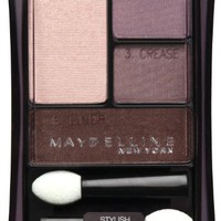 Maybelline New York Expert Wear Eyeshadow Quads, 12q Plum Smokes Stylish Smokes, 0.17 Ounce