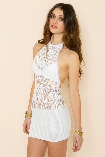 Daybreak Crochet Dress in  Clothes at Nasty Gal