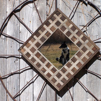 Wood Wall Art, Barn Wood Wall Mirror Made From Reclaimed Barn Wood