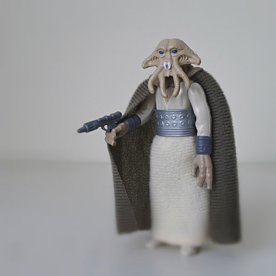 Star Wars 80s Toys : Star wars figure squid head kenner from