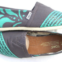 The Ashley - Teal and Ash Gray Custom TOMS