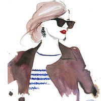 Watercolor Fashion Illustration The Prep by JessicaIllustration