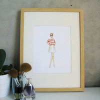 Marissa print 85 x 11 by sketchandpixel on Etsy