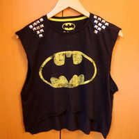 Little Miss Charming  Batman Studded Crop Top