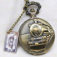 HOGWARTS EXPRESSHarry Potter Locomotive Pocketwatch by touchsoul