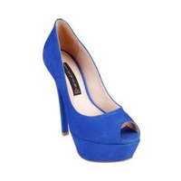 ALTETUDE BLUE NUBUCK women's dress high platform - Steve Madden