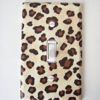 Cheetah Animal Print Single Toggle Switchplate