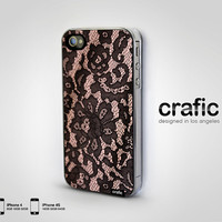 Blush Lace iPhone Case  Fits iPhone 4 and iphone 4S by CRAFIC