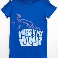 Where Is My Mind hand printed medium blue women's by mumbletease