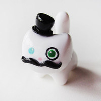 Gentleman Cat  Mustache and Top Hat Kitty by MadAristocrat on Etsy