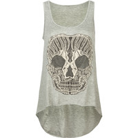 FULL TILT Lace Skull Womens HI Low Tank 212549131 | Graphic Tees & Tanks | Tillys.com