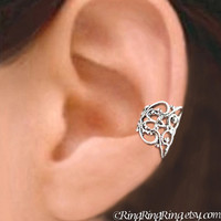 925 Lace Filigree  Sterling Sliver ear cuff by RingRingRing