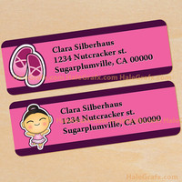 Printable Ballerina Address Labels...Customizable
