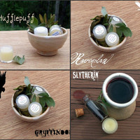 Four Hogwarts solid perfumes Gryffindor by GreenManNaturals