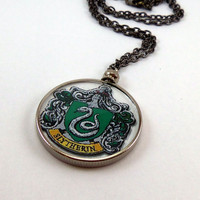 Slytherin Crest Necklace  Harry Potter  FREE by GardenOfSypria