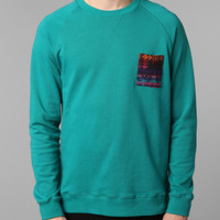 Deter Pattern Pocket Crew Sweatshirt