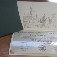 Harry Potter Personalized Hogwarts Diploma by LegendaryLetters