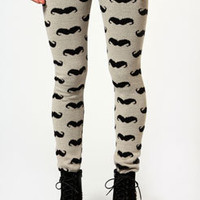 Sammi Moustache Thick Knit Leggings
