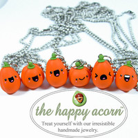 BFF Best Friend Kawaii Happy Pumpkins Necklaces Set of Six - Ready to Ship