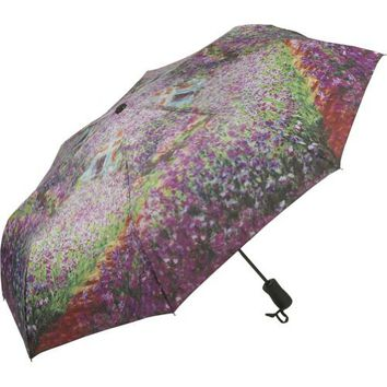 Galleria Monet's Garden Folding Umbrella