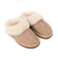 Sheep Touch Women's Twin-Face Australian Sheepskin Classic Slippers Sand