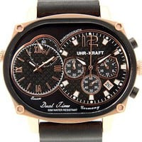 Uhr-Kraft Dual Timer Oval Office Rose Gold Watch 27004/2RG