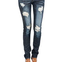 Papaya Clothing Online :: FRAYED SKINNY DENIM JEAN