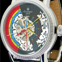 Aeromatic Mechanical Skeleton Triple Phase Multi Watch from Watchismo.com