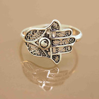 Favorite Filigree Hamsa Ring by TeriLeeJewelry on Etsy