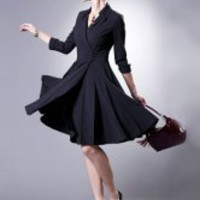 Black Terylene Spandex Ladies Dress - Milanoo.com