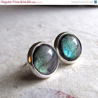 Northern Lights 10mm Silver Post Earrings by AshleySpatula on Etsy
