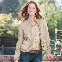 SPIRITED SAFARI JACKET - Jackets & Blazers - Outerwear - Women | Robert Redford's Sundance Catalog