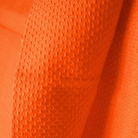 Huck Toweling Fabric Tangerine Orange