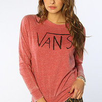 Vans  The Trustworthy Burnout Crewneck in Jester Red