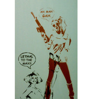 VALLEY GIRL gang wars Original Painting 10.25 x 20.25 on Wood Graffiti and Stencil Spray Paint Acrylic Paint Original Artwork