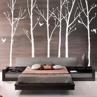 Vinyl Tree Wall Decal Wall Sticker Art winter by WallDecalDepot