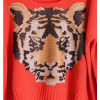 Sequin Tiger Print Sweater