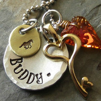 Personalized Horse Charm Necklace Crystal by EquineExpressionsbyD