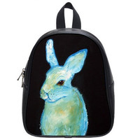 Ghost Bunny Backpack by HeavenlyCreaturesArt on Etsy