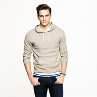 Textured slub cotton hoodie