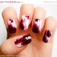 ON SALE Real Clot Effect Dexter Inspired Bloody Fake by niceclaws